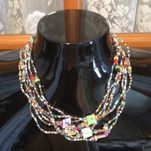 "18"" Tiny Colorful Beaded Necklace"
